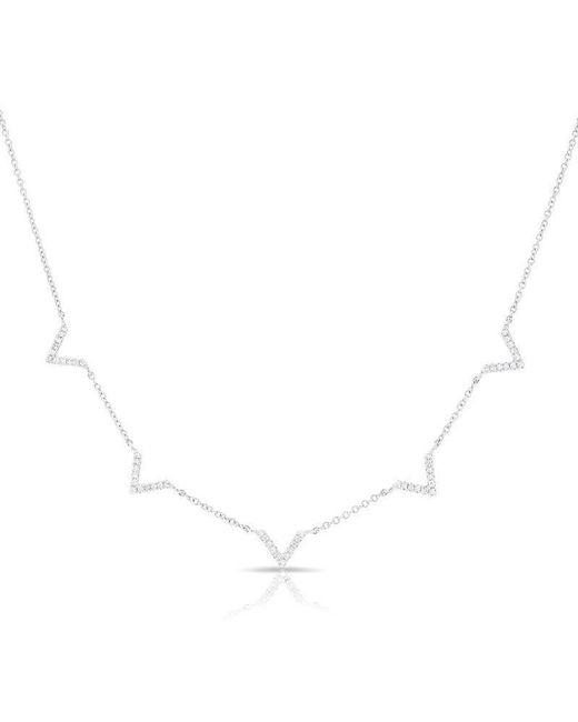 Anne Sisteron - Multicolor 14kt White Gold Diamond 5 Mini Chevrons Necklace - Lyst
