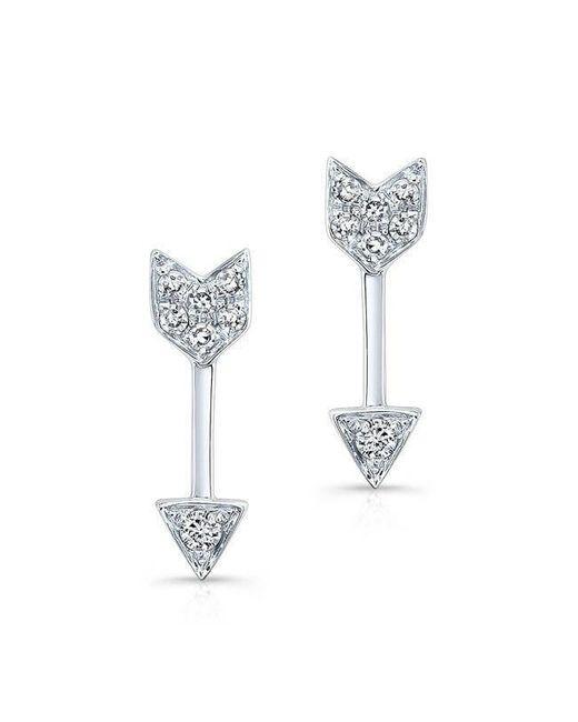 Anne Sisteron - Multicolor 14kt White Gold Diamond Mini Arrow Stud Earrings - Lyst