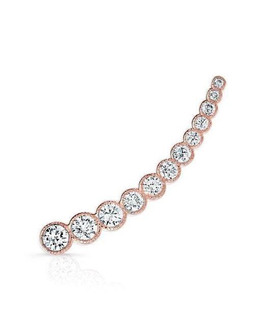 Anne Sisteron - Metallic 14kt Rose Gold Diamond Luxe Shooting Star Ear Climber - Lyst