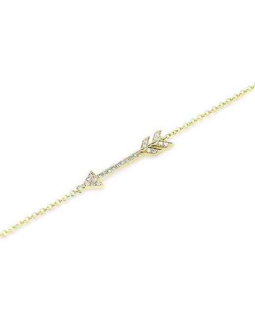 Anne Sisteron - Metallic 14kt Yellow Gold Diamond Arrow Bracelet - Lyst
