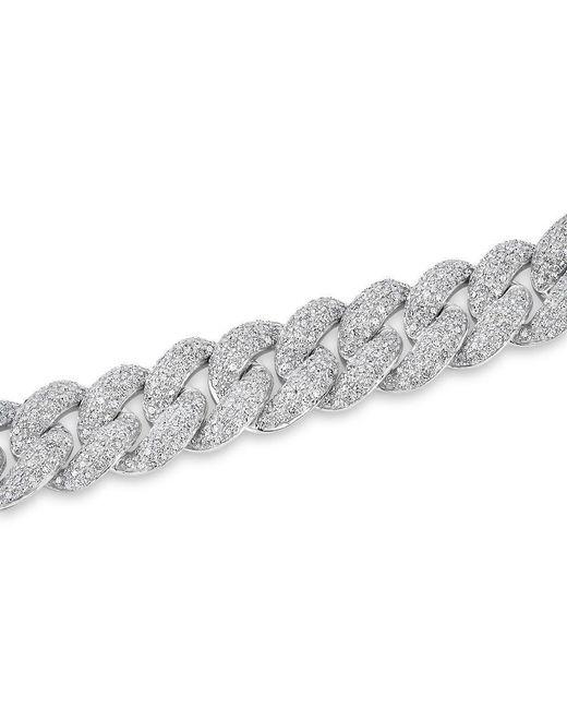 Anne Sisteron Metallic 14kt White Gold Diamond Amalie Chain Link Bracelet