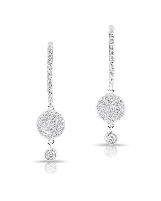 Anne Sisteron - Multicolor 14kt White Gold Diamond Disc Solitaire Drop Wireback Earrings - Lyst