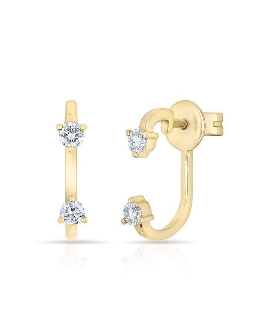 Anne Sisteron - Metallic 14kt Yellow Gold Diamond Demi Earrings - Lyst