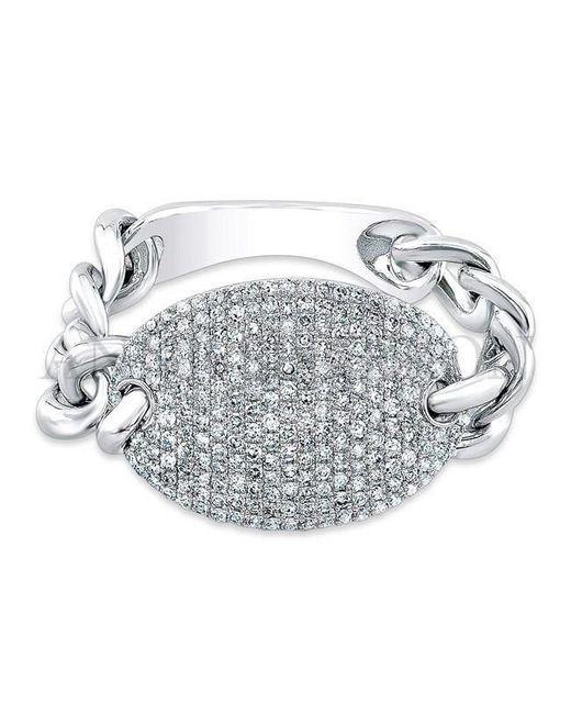 Anne Sisteron | Multicolor 14kt White Gold Diamond Bean Ring | Lyst