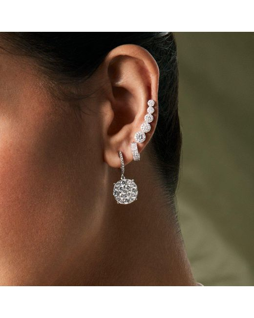 Anne Sisteron Metallic 18kt White Gold Diamond Anne Earrings