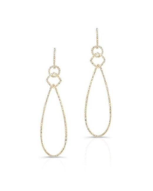 Anne Sisteron - Metallic 14kt Yellow Gold Diamond Open Pear Link Drop Earrings - Lyst