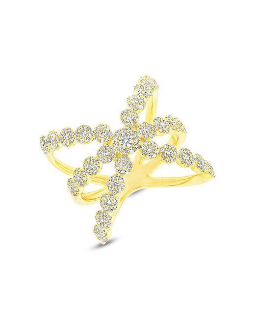 Anne Sisteron Metallic 14kt Yellow Gold Diamond Harper Ring