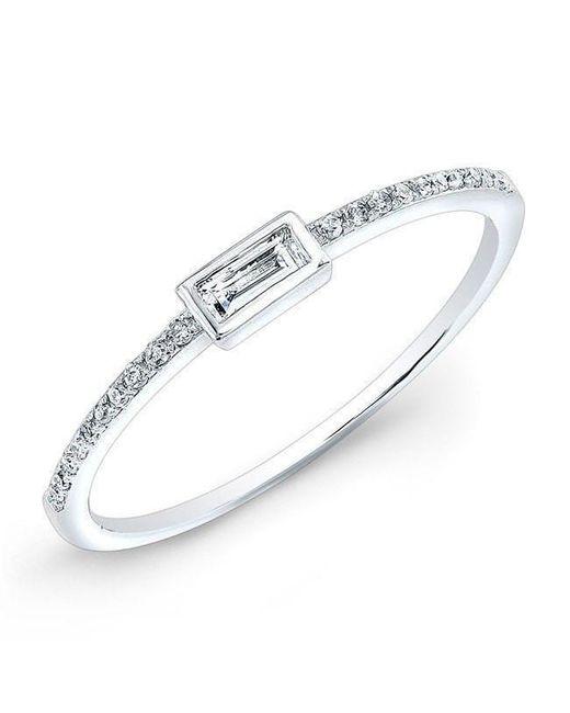 Anne Sisteron Multicolor 14kt White Gold Diamond Baguette Ring