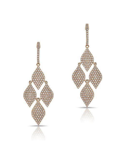 Anne Sisteron - Metallic 14kt Rose Gold Diamond Medium Marquis Earrings - Lyst