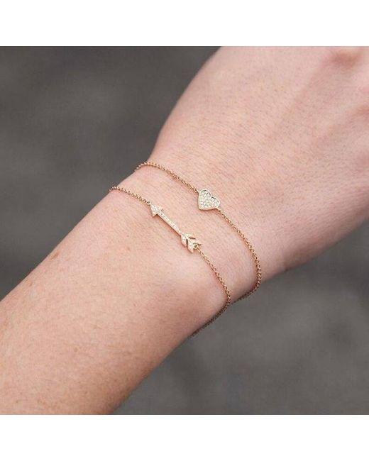 Anne Sisteron Metallic 14kt Rose Gold Diamond Heart Bracelet