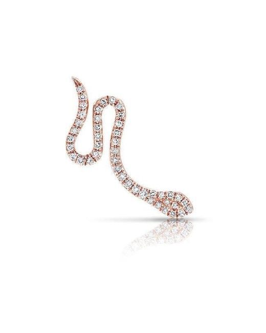 Anne Sisteron - Multicolor 14kt Rose Gold Diamond Snake Ear Climber - Lyst