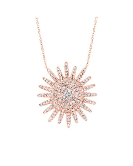 Anne Sisteron - Multicolor 14kt Rose Gold Diamond Aurora Sun Necklace - Lyst