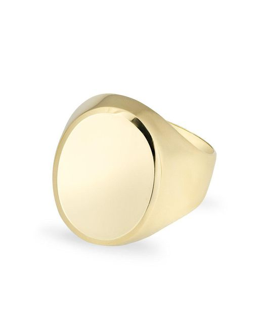 Anne Sisteron - Multicolor 14kt Solid Yellow Gold Oval Signet Ring - Lyst