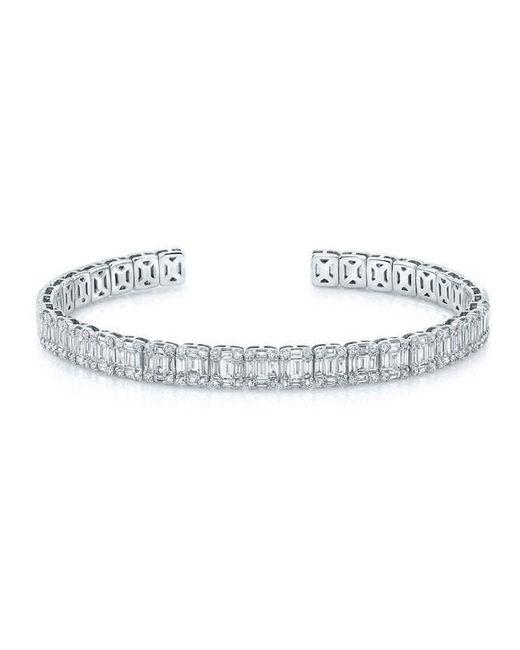Anne Sisteron - Metallic 18kt White Gold Baguette Diamond Luxe Cuff Bracelet - Lyst