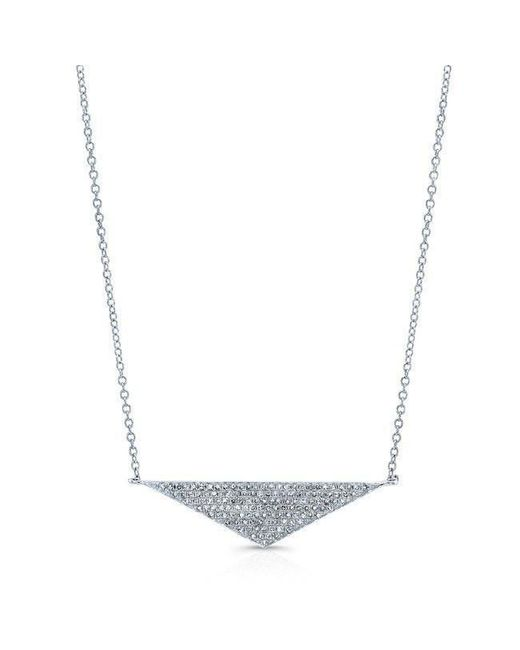 Anne Sisteron - Metallic 14kt White Gold Diamond Golden Triangle Necklace - Lyst