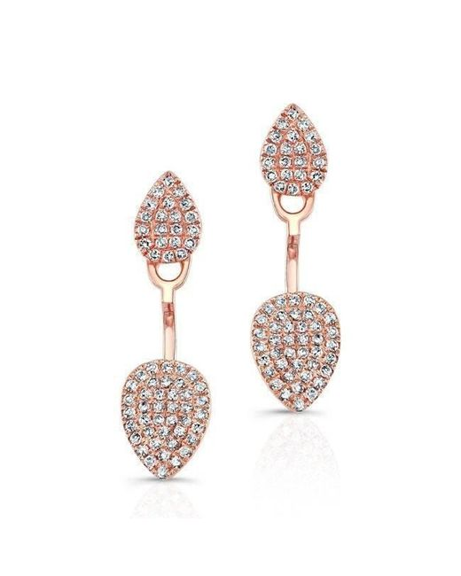 Anne Sisteron - Multicolor 14kt Rose Gold Pear Shaped Floating Earrings - Lyst
