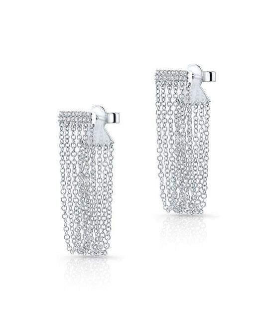 Anne Sisteron - Multicolor 14kt White Gold Diamond Bar Veil Earrings - Lyst