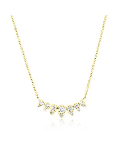 Anne Sisteron Metallic 14kt Yellow Gold Diamond Duchess Necklace