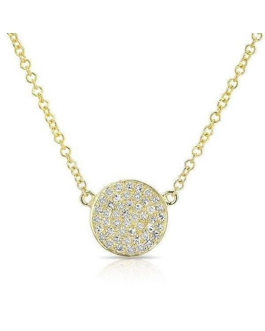 Anne Sisteron - Multicolor 14kt Yellow Gold Diamond Small Disc Necklace - Lyst