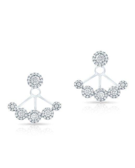 Anne Sisteron - Metallic 14kt White Gold Diamond Carissa Floating Earrings - Lyst