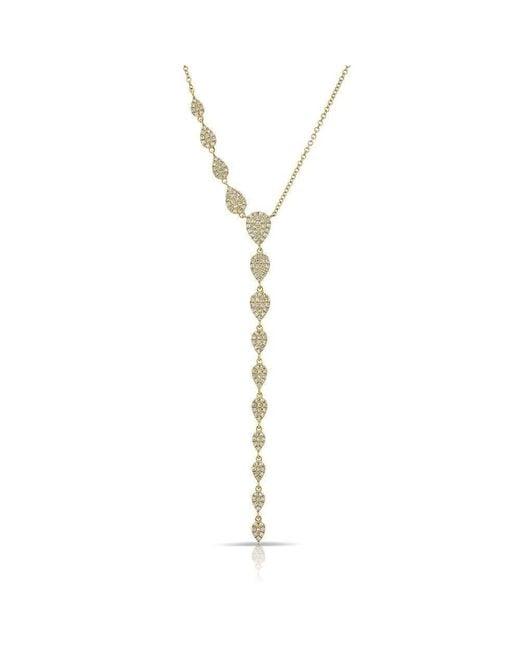 Anne Sisteron - Metallic 14kt Yellow Gold Diamond Pear Droplets Flirt Lariat Necklace - Lyst
