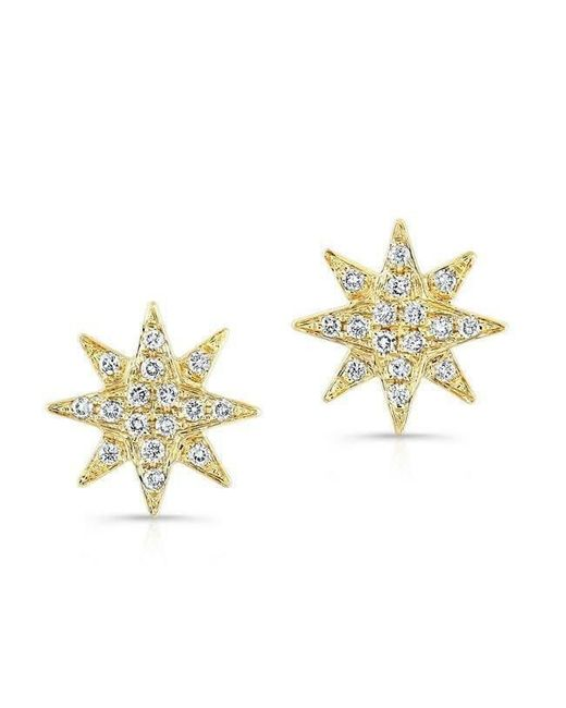 Anne Sisteron | Metallic 14kt Yellow Gold Diamond Starburst Stud Earrings | Lyst