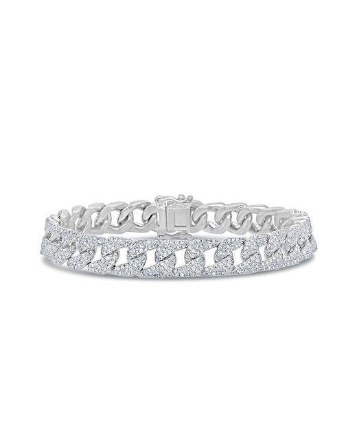 Anne Sisteron Metallic 14kt White Gold Diamond Luxe Cameron Chain Link Bracelet