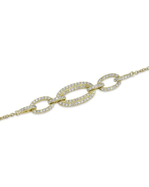 Anne Sisteron - Metallic 14kt Yellow Gold Three Link Chain Bracelet - Lyst