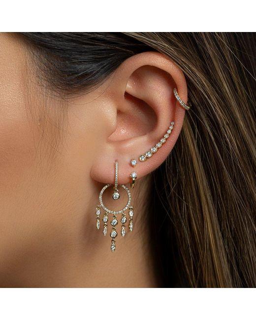 Anne Sisteron Metallic 14kt Rose Gold Diamond Anika Earrings