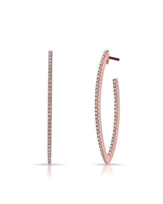 Anne Sisteron - Metallic 14kt Rose Gold Diamond Moderna Wishbone Earrings - Lyst