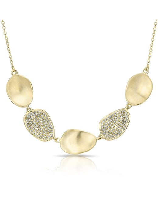 Anne Sisteron - Metallic 14kt Yellow Gold Diamond Cinq Petal Necklace - Lyst