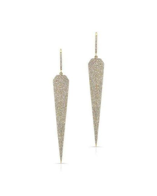 Anne Sisteron - Metallic 14kt Yellow Gold Diamond Jennifer L Earrings - Lyst