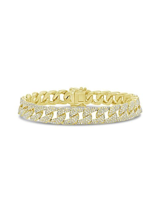 Anne Sisteron Metallic 14kt Yellow Gold Diamond Luxe Cameron Chain Link Bracelet