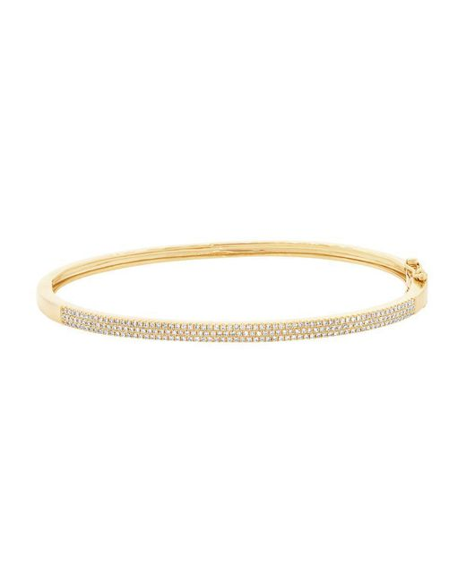 Anne Sisteron Metallic 14kt Yellow Gold Diamond Brielle Half Pave Diamond Bangle