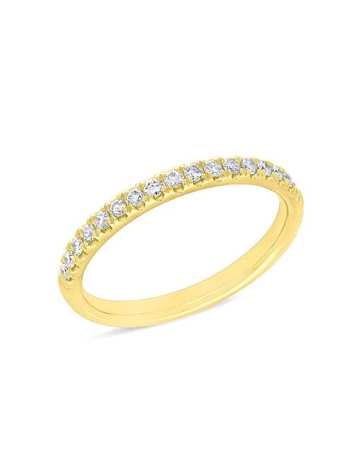 Anne Sisteron - Metallic 14kt Yellow Gold Lauren Half Diamond Ring - Lyst
