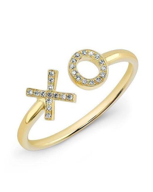 Anne Sisteron - Metallic 14kt Yellow Gold Diamond Xo Ring - Lyst