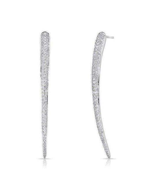 Anne Sisteron | Multicolor 14kt Rose Gold Diamond Talon Earrings | Lyst