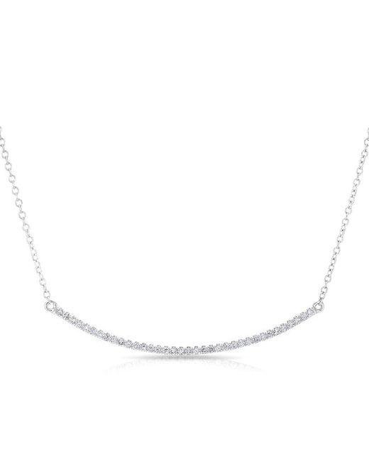 Anne Sisteron | Multicolor 14kt White Gold Diamond Lash Crescent Necklace | Lyst