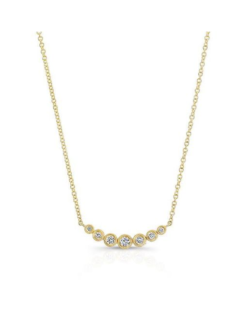 Anne Sisteron | Metallic 14kt Yellow Gold Bezel Set Diamond Luxe Hazel Necklace | Lyst