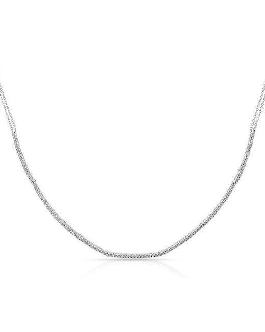 Anne Sisteron   Metallic 14kt White Gold Diamond Abby Choker Necklace   Lyst
