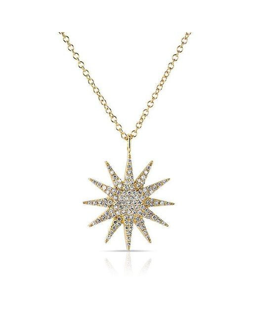 Anne Sisteron | Metallic 14kt Yellow Gold Diamond Glimmer Necklace | Lyst