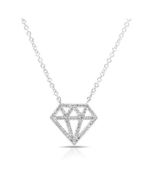 Anne Sisteron | Metallic 14kt White Gold Bling Diamond Necklace | Lyst