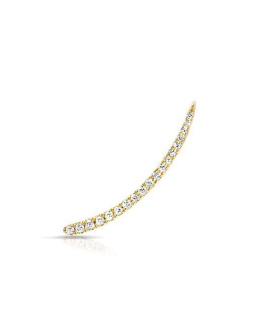 Anne Sisteron | Metallic 14kt Yellow Gold Diamond Lash Ear Climber | Lyst