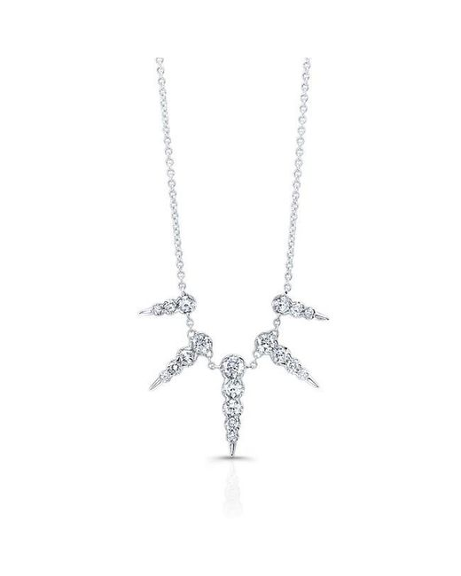 Anne Sisteron | Metallic 14kt White Gold Diamond Luxe Icicle Spike Necklace | Lyst