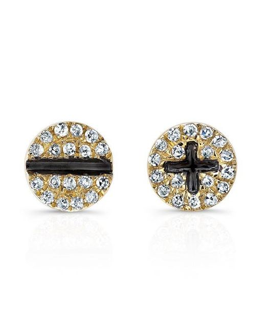 Anne Sisteron | Metallic 14kt Yellow Gold Diamond Hardware Stud Earrings | Lyst