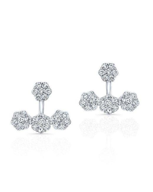 Anne Sisteron | Metallic 18kt White Gold Diamond Shari Floating Earrings | Lyst