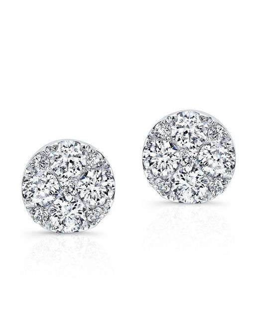 Anne Sisteron | Metallic 14kt White Gold Diamond Stud Earrings | Lyst