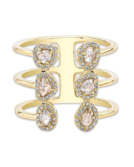 Anne Sisteron | Metallic 14kt Yellow Gold Diamond Slice Electric Ring | Lyst