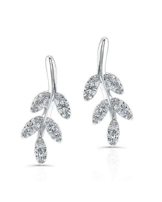 Anne Sisteron | Multicolor 14kt White Gold Diamond Ivy Stud Earrings | Lyst
