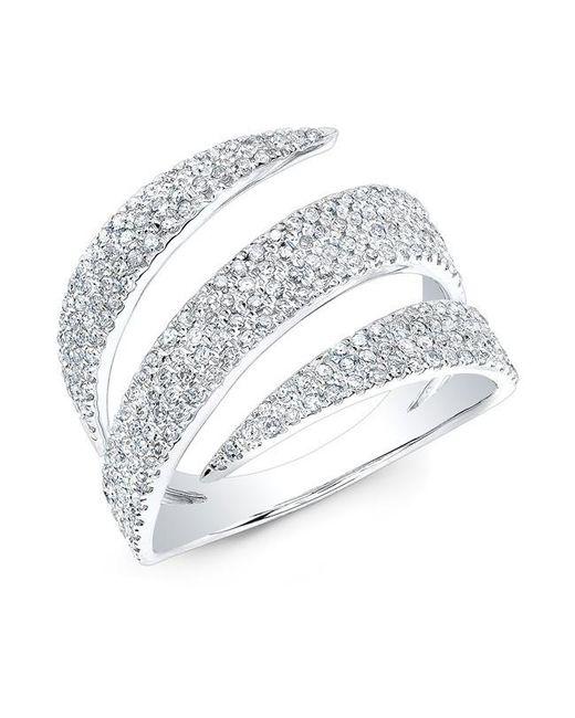 Anne Sisteron | Metallic 14kt White Gold Diamond Bandeau Ring | Lyst